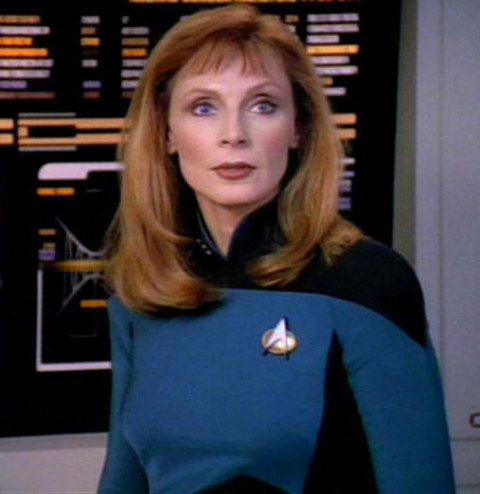 """Gates McFadden is best known for playing the chief medical officer (and hot redhead) Dr. Beverly Crusher in the long running sci-fi show """"Star Trek: The Next Generation."""""""