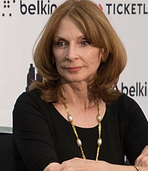 Gates McFadden was photographed at an event looking spaced out.