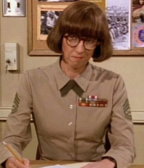 """After a long stint on """"Mama's Family"""" -- Beverly Archer played the straight laced Gunnery Sgt. Alva """"Gunner"""" Bricker on the early '90s television show """"Major Dad."""""""