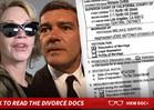 Melanie Griffith and Antonio Banderas Divorcing