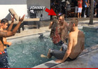 Johnny Manziel -- WET & WILD ... With Hot Chick at TX Pool Party