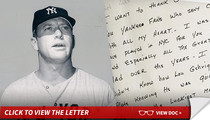 Mickey Mantle -- Famous Deathbed Speech ... Gets BIG MONEY at Auction