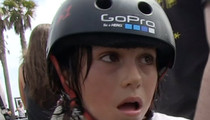 Skate Phenom Asher Bradshaw -- Diagnosed with Concussion ... After Scary Skate Crash