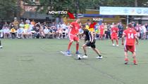 Steve Nash vs. Dirk Nowitzki -- International Soccer Smackdown in NYC!!!