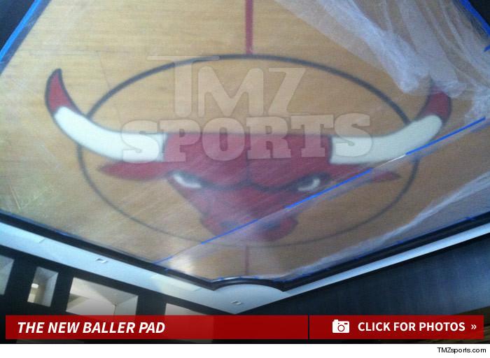 Michael Jordan Chicago Bulls Center Court Logo Is In My House