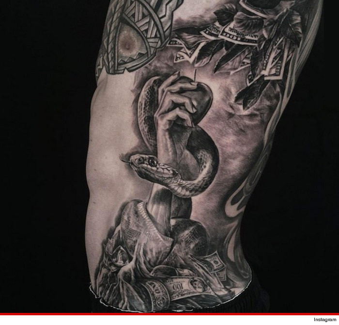 Colin Kaepernicks New Tattoo Money Is The Root Of All Evil Tmzcom