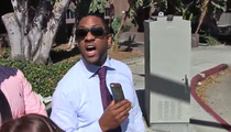 Jaleel White -- CLOWNIN' DONALD STERLING ... At L.A. Courthouse