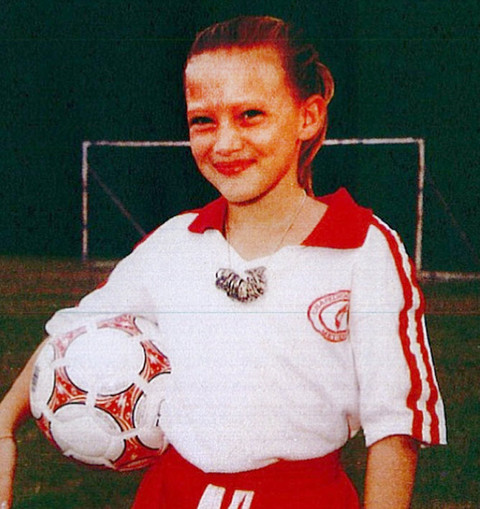 Before this fútbolling female was a striking Hollywood triple-threat she was just another cute kid playing in a Southern California soccer league.