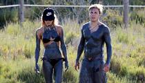 World Cup Hero Mario Gotze -- MUD BATHIN' ... With Hot Model GF
