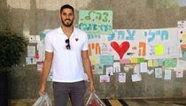NBA Player Omri Casspi -- Visits Israeli Troops ... Brings Basketballs