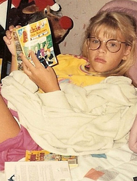 Before this glasses wearing girl was reading Hollywood movie scripts she was just another Archie loving little lady growing up in Oak Park, Illinois.