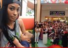 Miami Dolphins GF Ashley Nicole -- Breast-feeding Rebellion in Mall