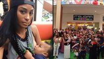 Miami Dolphins GF Ashley Nicole -- Breast-feeding Rebellion in Mall