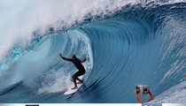 Kelly Slater -- Surfing With 'Hands Up'... to Honor Mike Brown