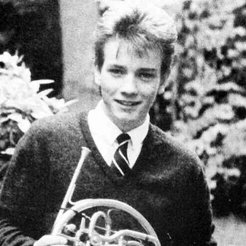 Before this french horn enthusiast was at the top of the Hollywood foodchain he was just another kid playing in his school band in Crieff, Scotland.