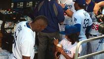 Yasiel Puig -- I Love My Mo'ne Davis Autograph ... It's Already In My Trophy Room