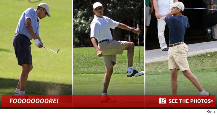 3956e3d6ab6b0c President Barack Obama -- No Tee Time for You! Dissed by Trump Golf ...