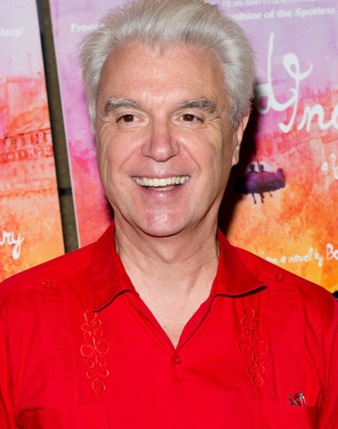 David Byrne was  photographed looking old wave.