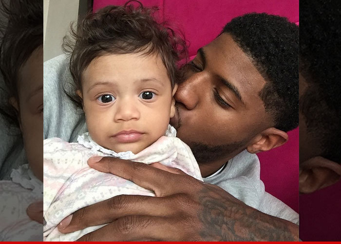 Paul George -- Meets Baby Daughter ... Gunning for Joint Custody ... 3d2c717b3