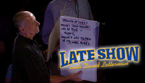 David Letterman's Cue Card Guy FIRED ... For Attacking Writer