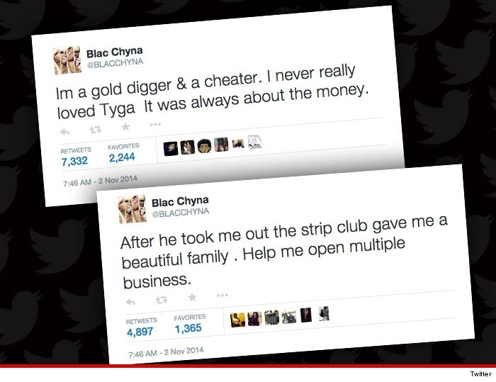 6d09bebc936c Blac Chyna -- Tyga Hacked My Twitter ... I m Not a Gold Digging Cheater!