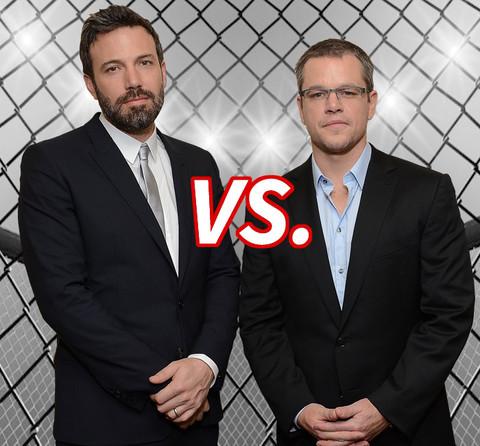 Best friends forever... Ben Affleck (42) vs. Matt Damon (44)  make it a Boston battle.