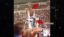 Dierks Bentley -- Drunk Fan Vomits On-Stage (VIDEO)