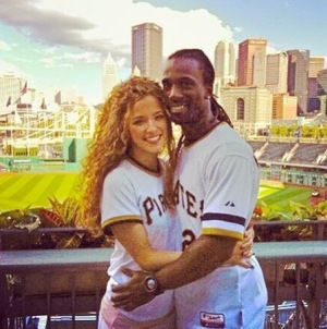 Andrew McCutchen & Maria Hanslovan -- The Happy Couple