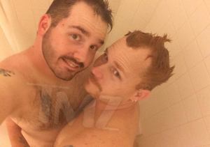 Uncle Poodle Showering for HIV Awareness