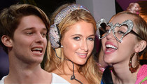 Miley Cyrus and Patrick Schwarzenegger -- Dropping Mad Cash at Strip Club ... With Paris Hilton