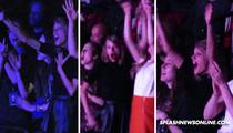 Taylor Swift -- Full Fan Girl at Justin Timberlake Concert