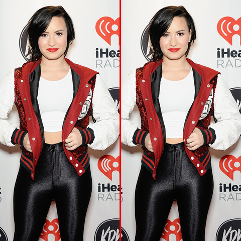 Can you spot the THREE differences in the Demi Lovato photos?