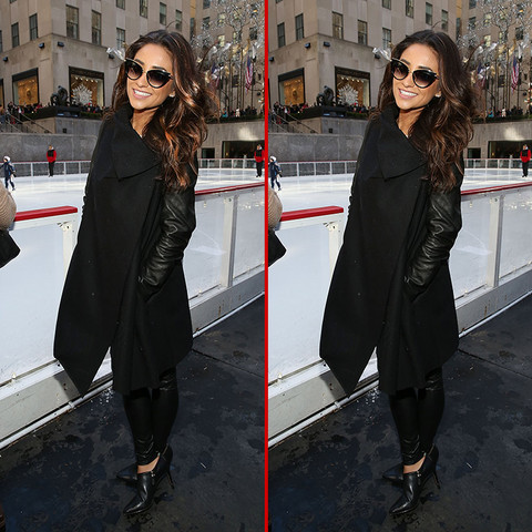 Can you spot the THREE differences in the Shay Mitchell photos?