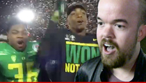 Oregon Players -- Ripped 'No Means No' Chant ... From Pre-Rose Bowl Comedy Show