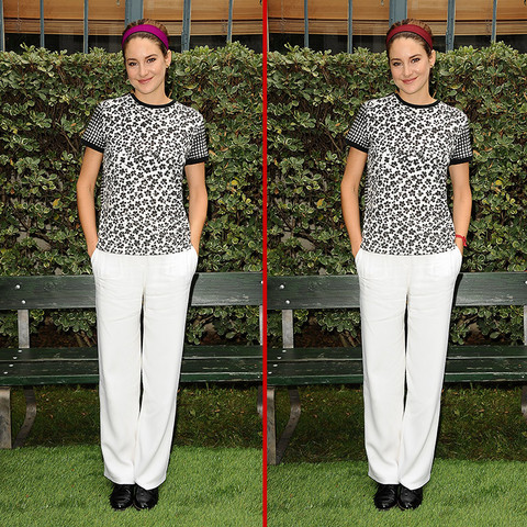 Can you spot the THREE differences in the Shailene Woodley photos?