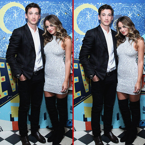 Can you spot the THREE differences in the Miles Teller & Keleigh Sperry photos?