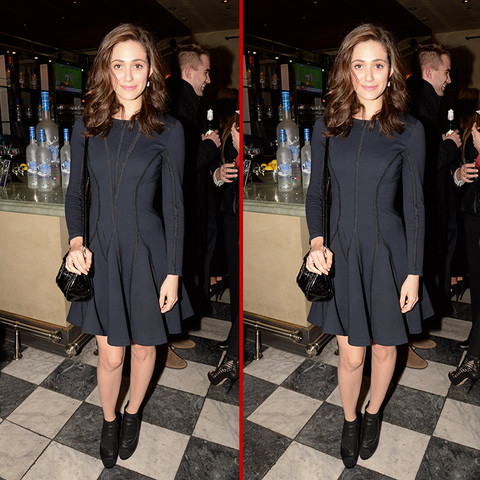 Can you spot the THREE differences in the Emmy Rossum photos?