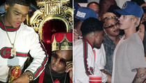 Diddy -- Passin' the Courvoisier with Justin Bieber At Son's 21st Birthday Bash