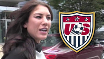 Hope Solo -- SUSPENDED BY U.S. SOCCER ... After 'Belligerent' Behavior During Hubby's DUI