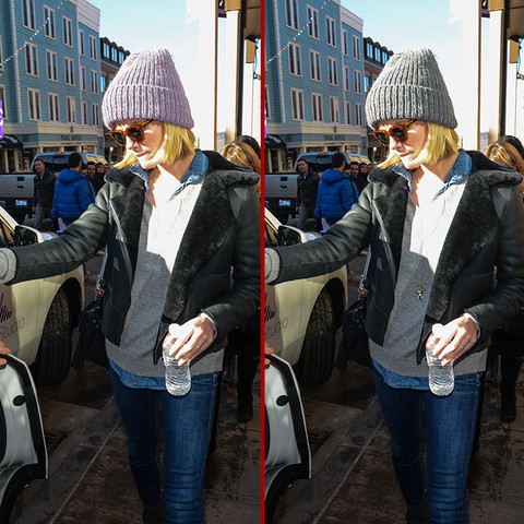 Can you spot the THREE differences in the Brooklyn Decker photos?