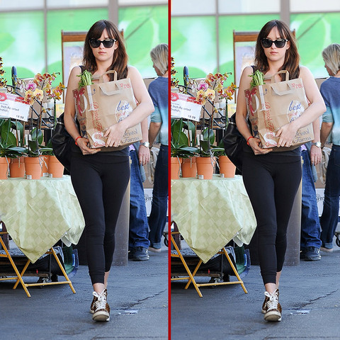 Can you spot the THREE differences in the Dakota Johnson photos?