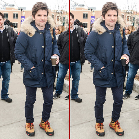 Can you spot the THREE differences in the Adam Scott photos?