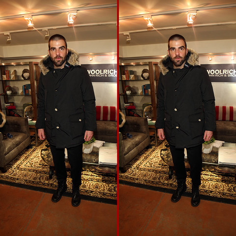 Can you spot the THREE differences in the Zachary Quinto photos?