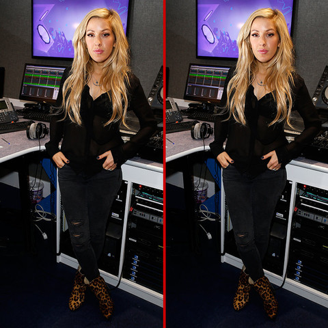 Can you spot the THREE differences in the Ellie Goulding photos?