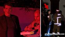 Pierce Brosnan -- Fire Engulfs Malibu Home