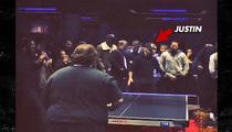 Justin Bieber -- SMOKES Rapper Action Bronson at Ping Pong