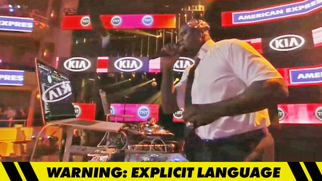 Shaq -- Accidentally Plays N-Bomb Song     During 'Inside the NBA