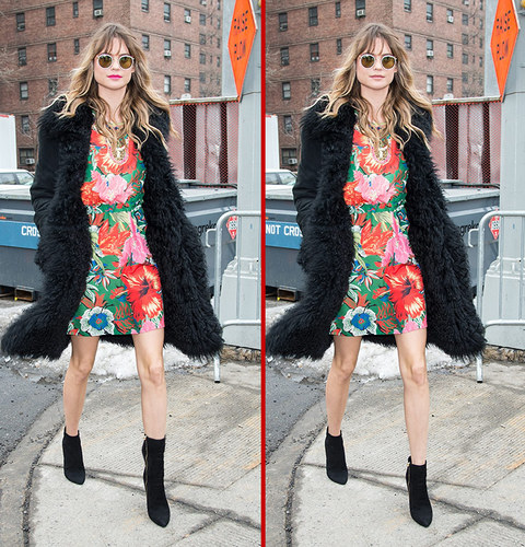 Can you spot the THREE differences in the Behati Prinsloo photos?