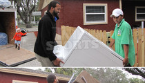 Ex-NFL Star Michael Clayton -- Extreme Home Makeover ... For Ex-Foster Kids