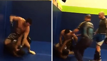 MMA Fighter Josh Neer -- Beats Up Heckler At Iowa Gym ... Records It